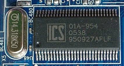 Микросхема тактового генератора ICS и кварца