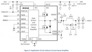 Типовая схема включения IR3550
