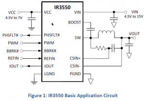 Сигналы микросхемы IR3550